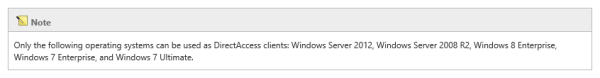 Windows Server 2012 DirectAccess Client Requirements