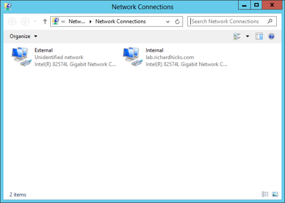 Network Interface Configuration for Multihomed Windows