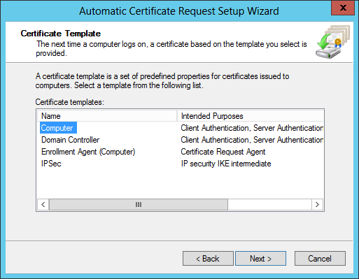 DirectAccess Certificate Auto-enrollment