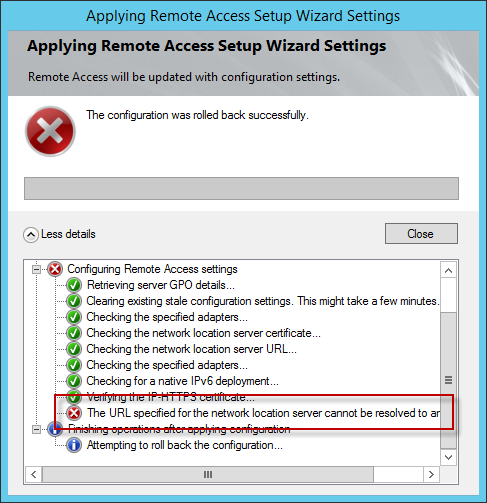 Windows Server 2012 R2 DirectAccess Name Resolution Issue