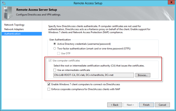 Microsoft Security Update KB2862152 for DirectAccess