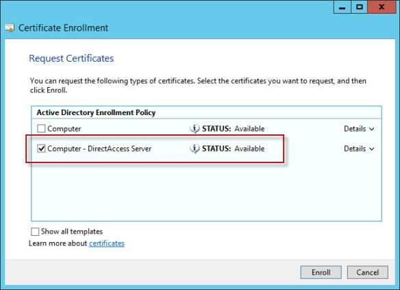 Configuration Guidance for DirectAccess Security Advisory