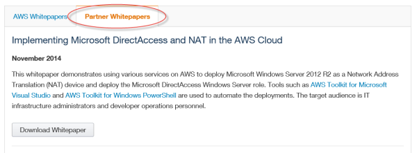 Configure Windows Server 2012 R2 DirectAcess on Amazon Web Services (AWS)