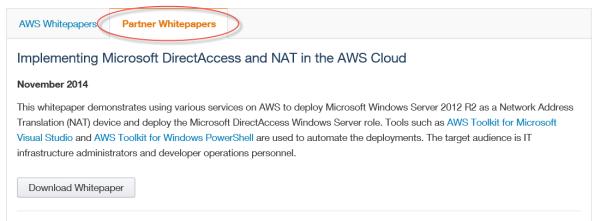 Configure Windows Server 2012 R2 DirectAcess on Amazon Web Services (AWS)
