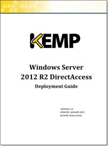 DirectAccess Deployment Guide for Kemp LoadMaster Load Balancers