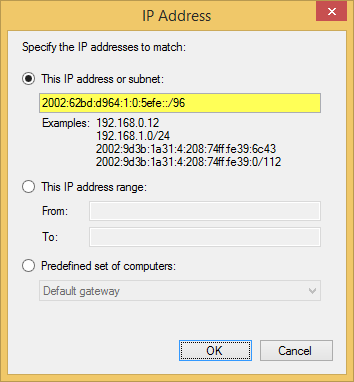 DirectAccess Client Firewall Rule Configuration for ISATAP Manage Out
