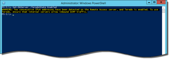 Enable Teredo Support after DirectAccess Has Been Configured