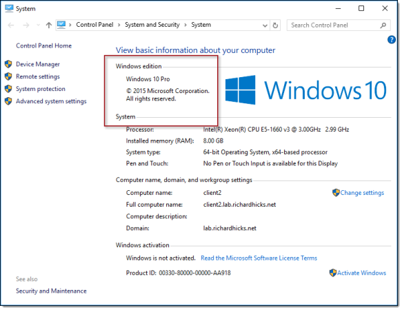DirectAccess and Windows 10 Professional | Richard M  Hicks