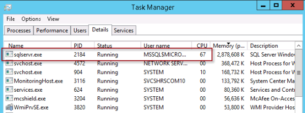 DirectAccess SQL Server High CPU Usage