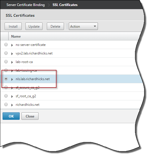Configure Citrix NetScaler for DirectAccess NLS | Richard M  Hicks