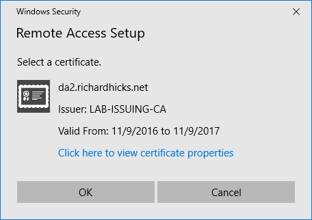 DirectAccess Expired IP-HTTPS Certificate and Error