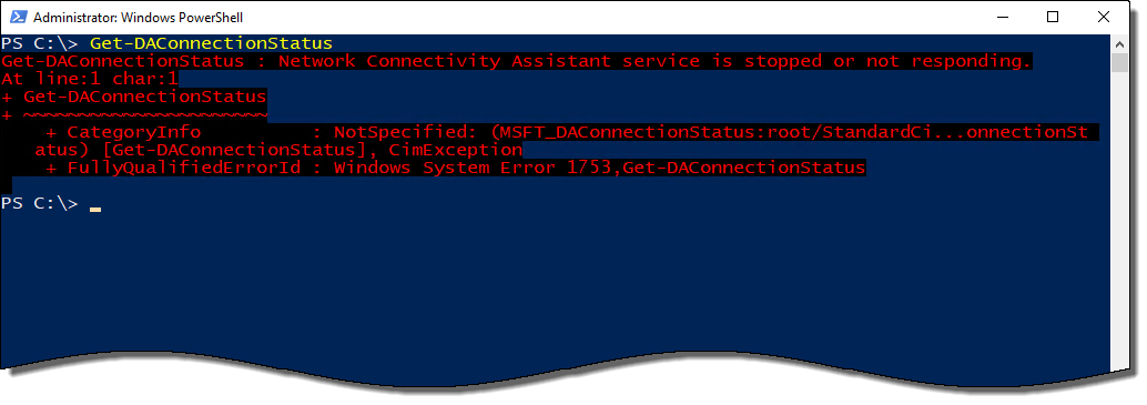 DirectAccess Network Connectivity Assistant Missing in Windows 10