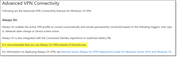 Always On VPN and the Future of Microsoft DirectAccess | Richard M