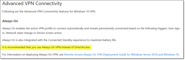 Always On VPN and the Future of Microsoft DirectAccess
