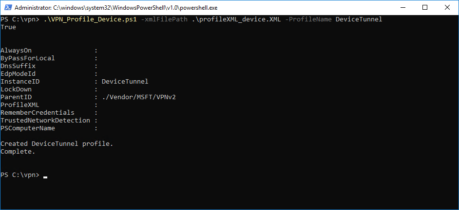 Always On VPN Windows 10 Device Tunnel Step-by-Step Configuration