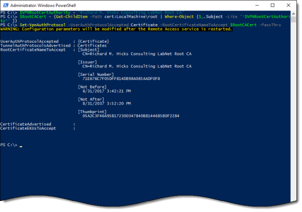 Always On VPN Windows 10 Device Tunnel Step-by-Step Configuration using PowerShell