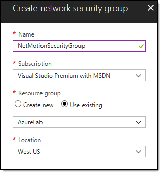 Deploying NetMotion Mobility in Azure