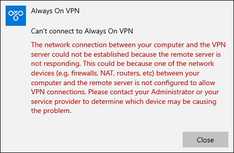 Always On VPN and IKEv2 Fragmentation
