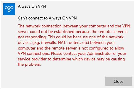 Always On VPN and IKEv2 Fragmentation